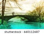 bridge landscape wallpaper...   Shutterstock . vector #660112687