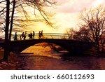 bridge landscape wallpaper...   Shutterstock . vector #660112693