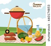colorful poster of summer... | Shutterstock .eps vector #660174853