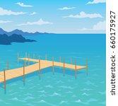 tropical ocean landscape with... | Shutterstock .eps vector #660175927
