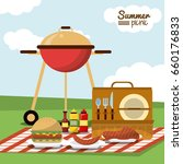 colorful poster of summer... | Shutterstock .eps vector #660176833