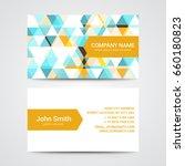 modern business card template   Shutterstock .eps vector #660180823