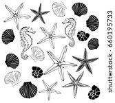 seashells set vector ... | Shutterstock .eps vector #660195733