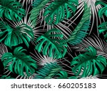 vector nature floral seamless...   Shutterstock .eps vector #660205183
