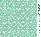 seamless turquoise vintage... | Shutterstock .eps vector #660220903