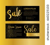 golden banners. gold text. gift ... | Shutterstock .eps vector #660225103