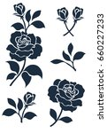 Stock vector flower motif sketch for design 660227233