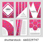abstract vector layout... | Shutterstock .eps vector #660229747