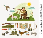 hunting icons set vector... | Shutterstock .eps vector #660234967