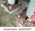 Rusty Steel Pole