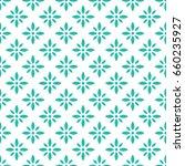 vector turquoise flower pattern.... | Shutterstock .eps vector #660235927