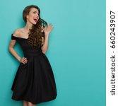 beautiful young woman in... | Shutterstock . vector #660243907