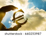 Man's Hand Hold The Euro Icon...
