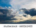 heavy sky  bad weather. a...   Shutterstock . vector #660261403