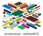 building blocks and plates for... | Shutterstock .eps vector #660264073
