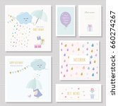 cute cards for girls. can be... | Shutterstock .eps vector #660274267