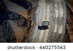 large trucks transport gold ore ... | Shutterstock . vector #660275563