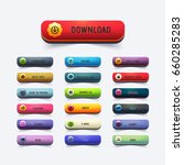 glossy style multicolored... | Shutterstock .eps vector #660285283