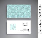 business card. vintage... | Shutterstock .eps vector #660285337