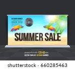 summer season vector background.... | Shutterstock .eps vector #660285463