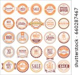 retro badges and labels... | Shutterstock .eps vector #660287467