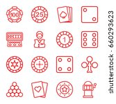gamble icons set. set of 16... | Shutterstock .eps vector #660293623