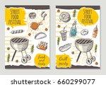street food brochure flyer... | Shutterstock .eps vector #660299077