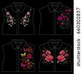 traditional folk flower...   Shutterstock .eps vector #660302857