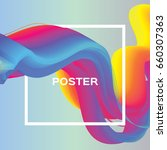 abstract colorful poster. wave... | Shutterstock .eps vector #660307363