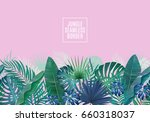 palm leaves seamless horizontal ...   Shutterstock .eps vector #660318037