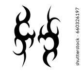 tribal tattoo art designs.... | Shutterstock .eps vector #660326197