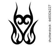 tribal tattoo art designs.... | Shutterstock .eps vector #660326227