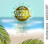 summer typography design  ... | Shutterstock .eps vector #660331387