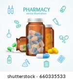 pharmacy concept with pills... | Shutterstock .eps vector #660335533