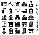 window icons set. set of 25... | Shutterstock .eps vector #660339973