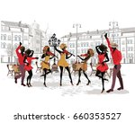 series of the streets with... | Shutterstock .eps vector #660353527