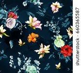 seamless background pattern.... | Shutterstock .eps vector #660365587