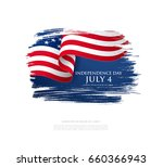 fourth of july independence day.... | Shutterstock .eps vector #660366943