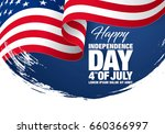 fourth of july independence day.... | Shutterstock .eps vector #660366997