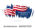 fourth of july independence day.... | Shutterstock .eps vector #660367033