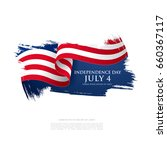 fourth of july independence day.... | Shutterstock .eps vector #660367117