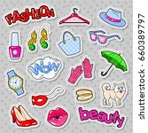 woman fashion stickers  badges