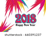 greeting card background and... | Shutterstock . vector #660391237