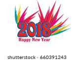 greeting card background and... | Shutterstock . vector #660391243