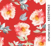 seamless summer pattern with... | Shutterstock . vector #660394063