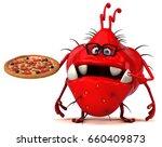 fun germ   3d illustration | Shutterstock . vector #660409873
