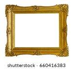 gilded frame for paintings ... | Shutterstock . vector #660416383