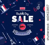 bastille day  sale vector... | Shutterstock .eps vector #660422857