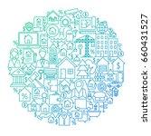 real estate line circle design. ... | Shutterstock .eps vector #660431527