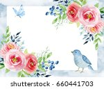 painted watercolor composition... | Shutterstock . vector #660441703